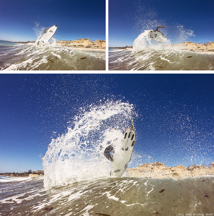 Small wave punt by Chris Ward. Surf photo by Chris Grant.