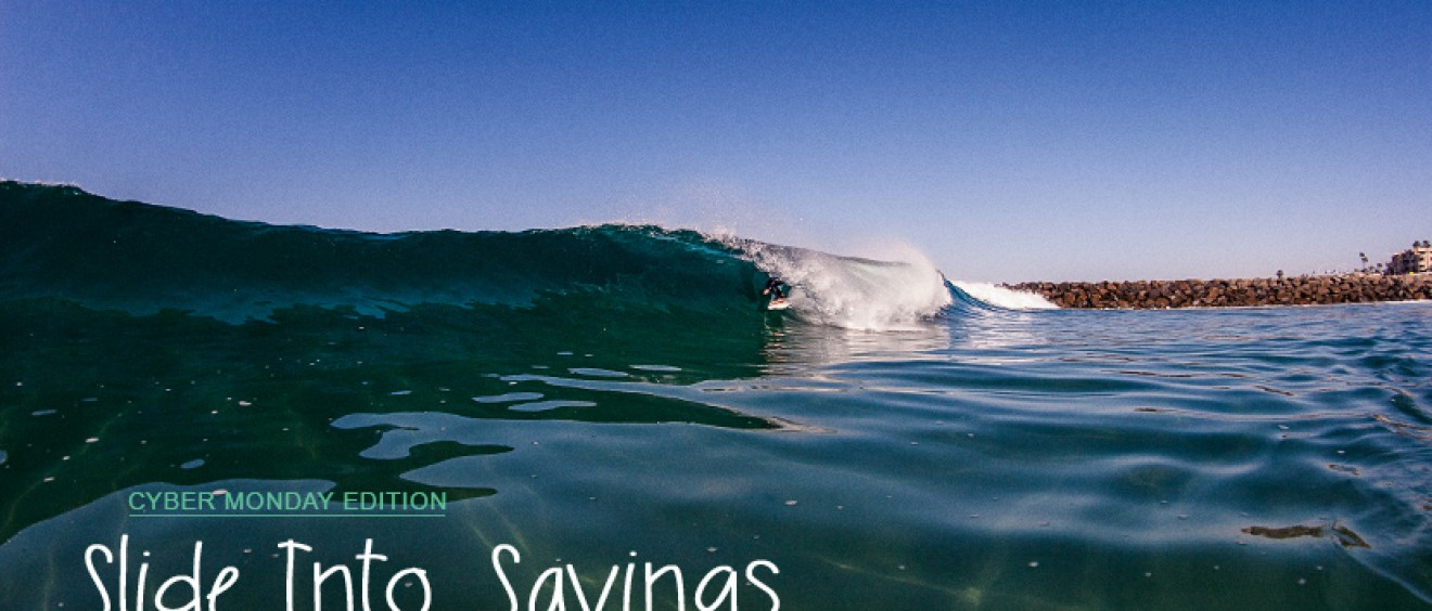 Slide Into Savings Cyber Monday surf shop discounts and coupon codes