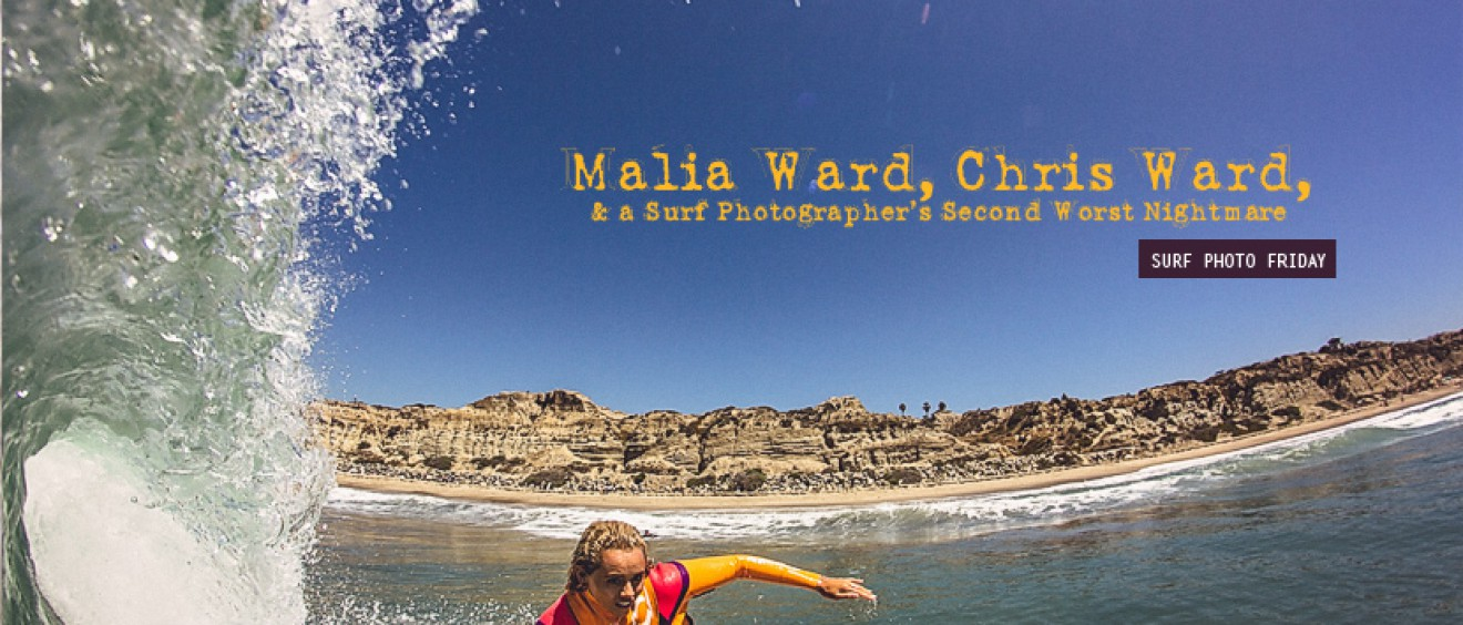 Surf Photo Friday with Malia Ward and Chris Ward. Jettygirl Online Surf Magazine.