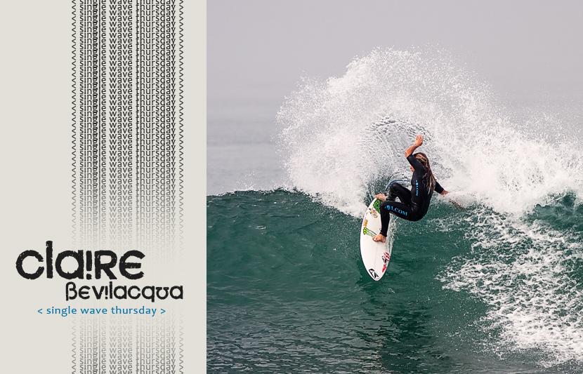 Single Wave Thursday featuring Claire Bevilacqua. One ride, no music, just surfing. Bevo on Jettygirl Online Surf Magazine.