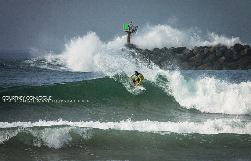 Single Wave Thursday featuring Courtney Conlogue. One Ride, No Music, Just Surfing.