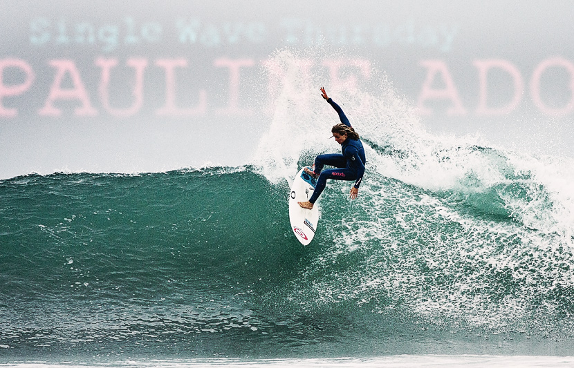 Single Wave Thursday featuring Pauline Ado on Jettygirl Online Surf Magazine. One ride, no music, just surfing.