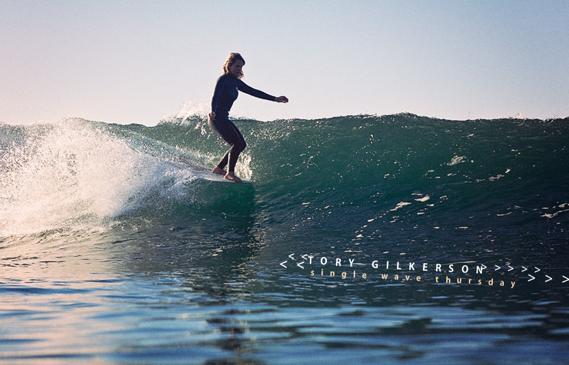 Single Wave Thursday featuring Tori Gilkerson. One ride, no music, just surfing. Jettygirl Online Surf Magazine.