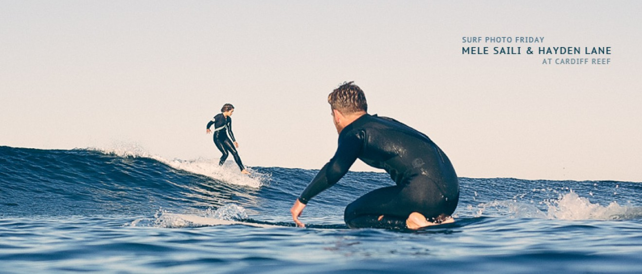 Surf Photo Friday featuring Mele Saili and Hayden Lane surfing Cardiff Reef - Jettygirl Online Surf Magazine