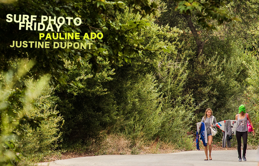 Surf Photo Friday featuring Pauline Ado and Justine Dupont on Jettygirl Online Surf Magazine.