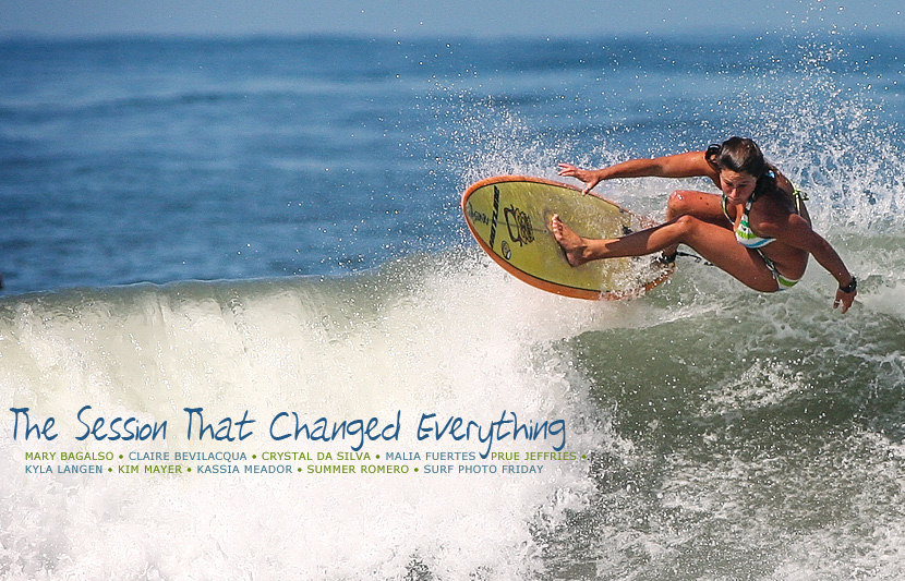 Surf Photo Friday featuring Mary Bagalso, Claire Bevilacqua, Crystal da Silva, Malia Fuertes, Prue Jeffries, Kyla Langen, Kim Mayer, Kassia Meador and Summer Romero on Jettygirl Online Surf Magazine.