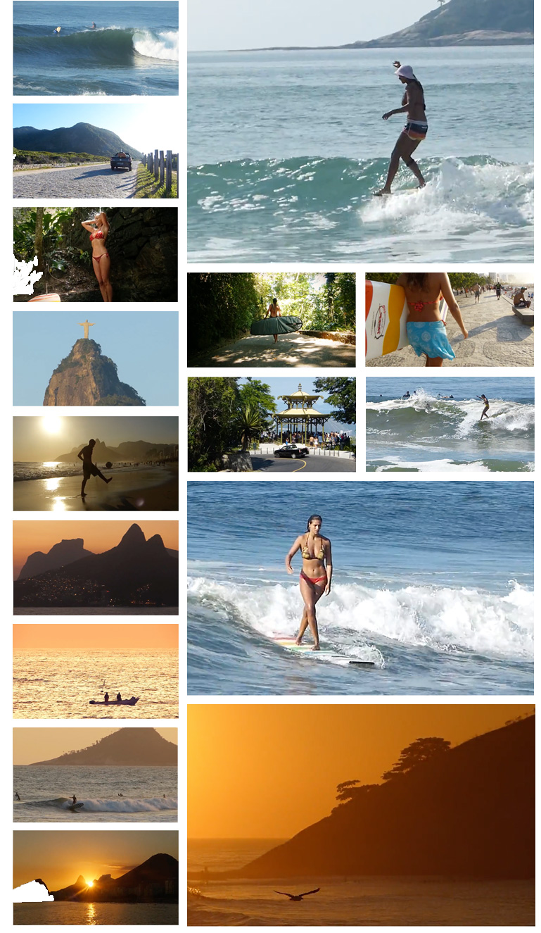 Lara Valente - Summer in Rio surf video. Verao no Rio.