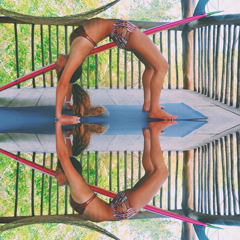 Backbend in Panama, Stephanie Schechter, yoga reflection. Photo by Janet Schechter on Surf Photo Friday on Jettygirl.