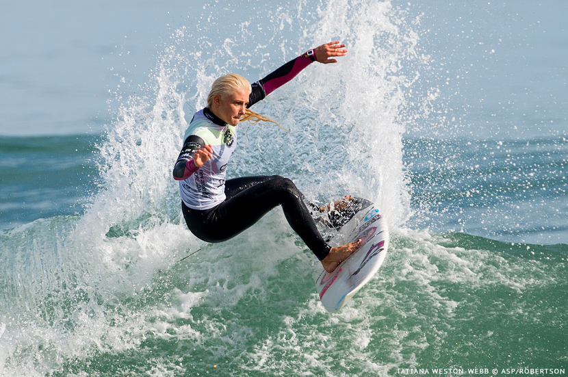 Tatiana Weston-Webb (Hawaii) wins the Chain Resources Pro Junior in Taranaki, New Zealand. Photo © ASP / Robertson