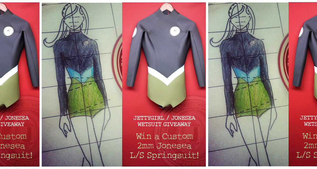 Jonesea 2mm Long Sleeve Spring Wetsuit Giveaway on Jettygirl Online Surf Magazine & Lifestyle Blog