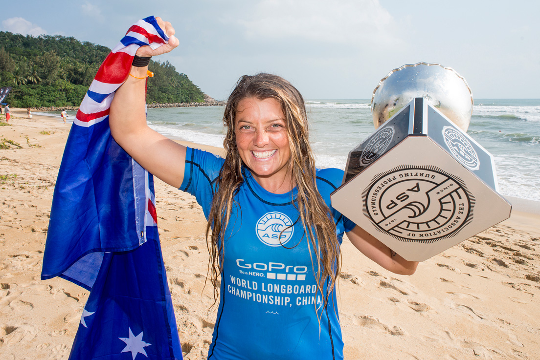 Chelsea Williams claimed her maiden ASP World Longboard Title. Photo credit: ASP / Will H-S