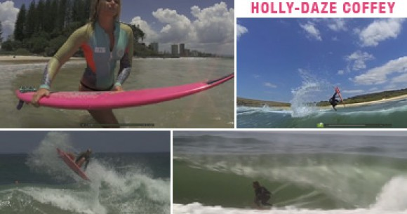 "Women's surf video - Holly-Daze Coffey: Air-Reverse Cleared For Landing"" - a mySURF.tv production"