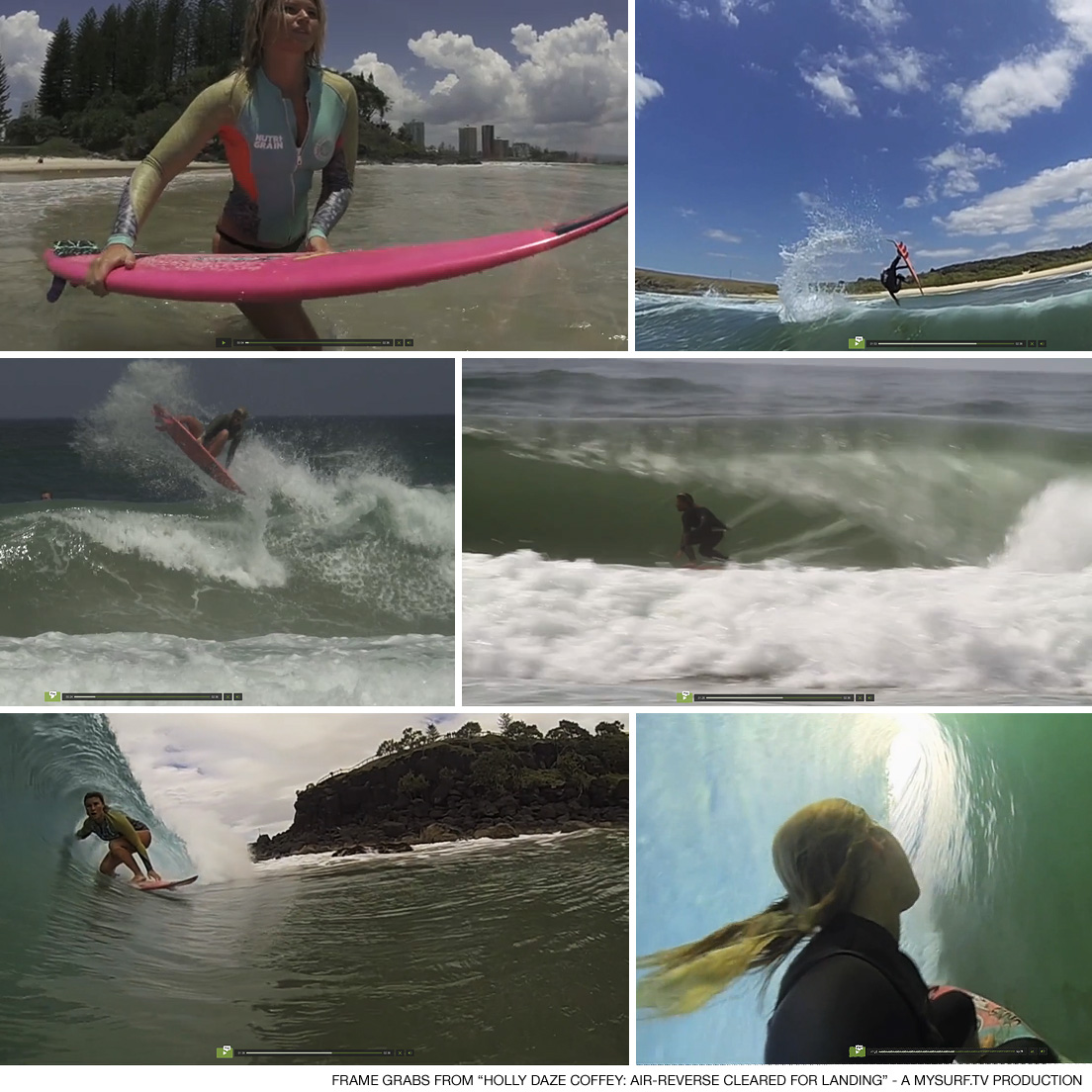 Holly Daze Coffey: Air Reverse Cleared For Landing - a mySURF.tv production - surfer girl video