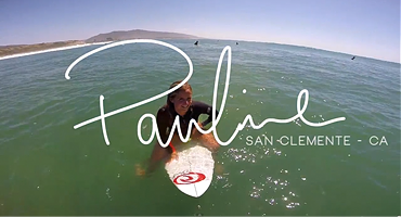 Pauline Ado surfing in San Clemente. Surf video filmed and edited by Rémi Blanc