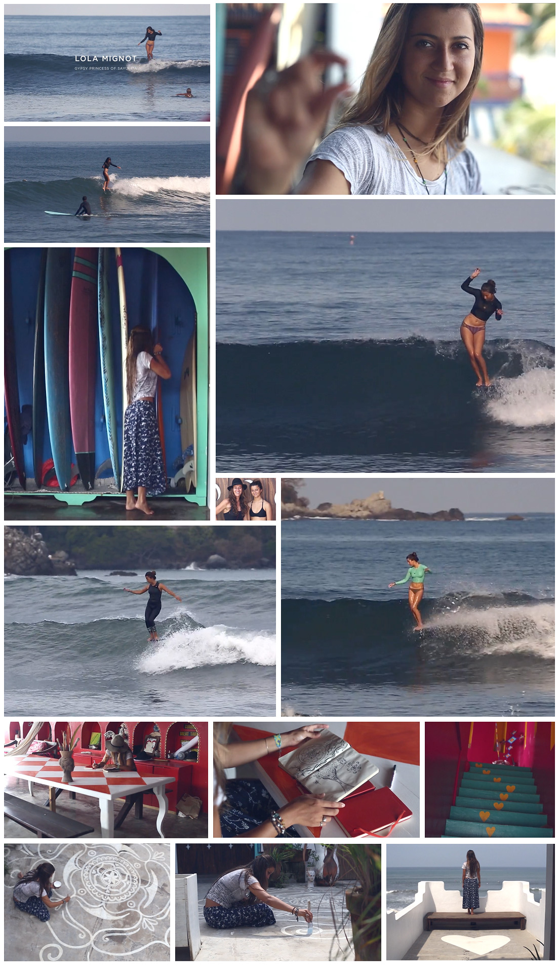 Frame grabs from Ed Fladung's short film, Lola Mignot, Gypsy Princess of Sayulita