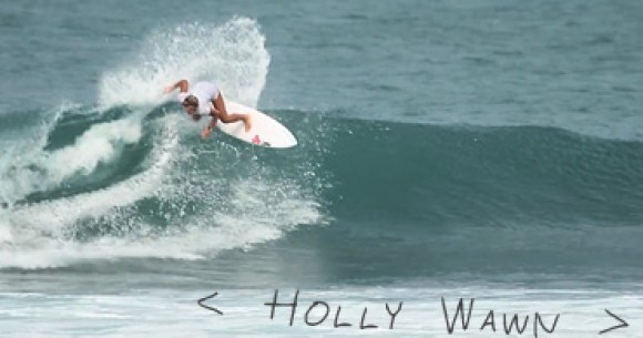 Holly Wawn surf film by Beau Mitchell and Chad Bolth