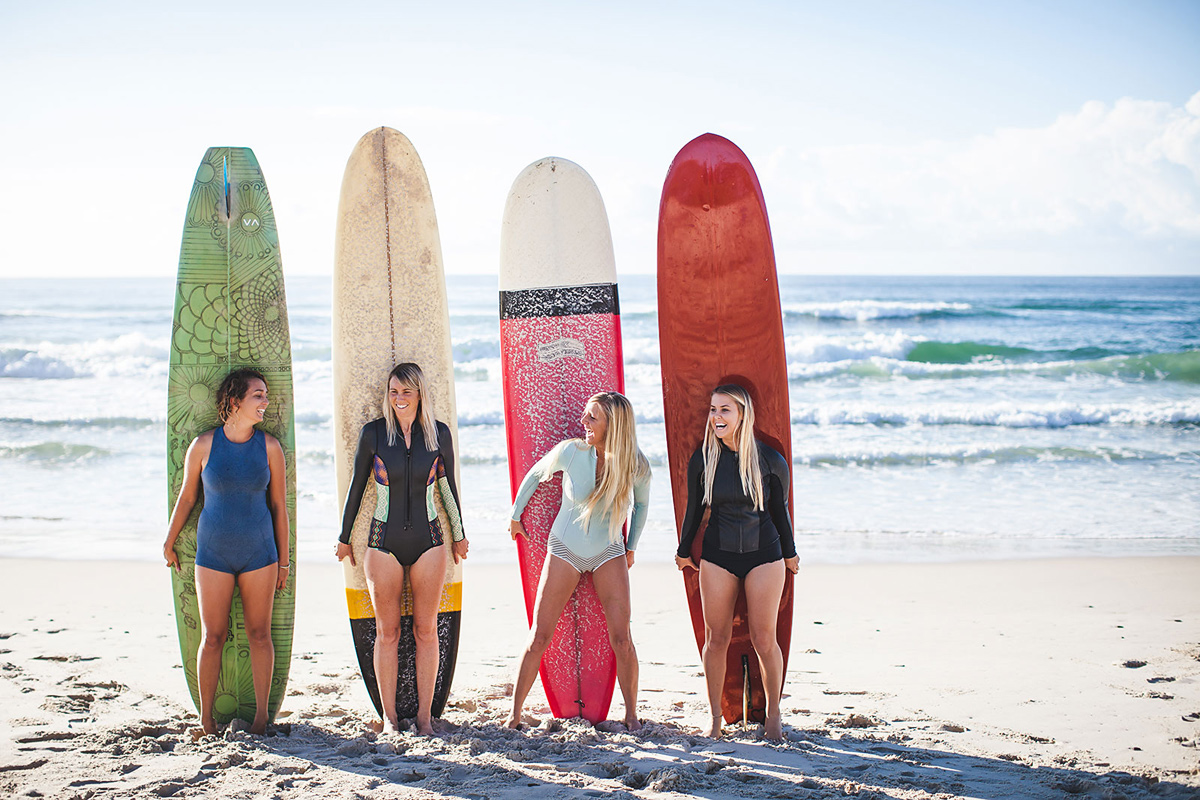 Molly O'Neil, Leanna Rack, Kath Moore & Taryn Wilson, Far North Coast NSW - Photo by Ming Nomchong, The Drifter Blog