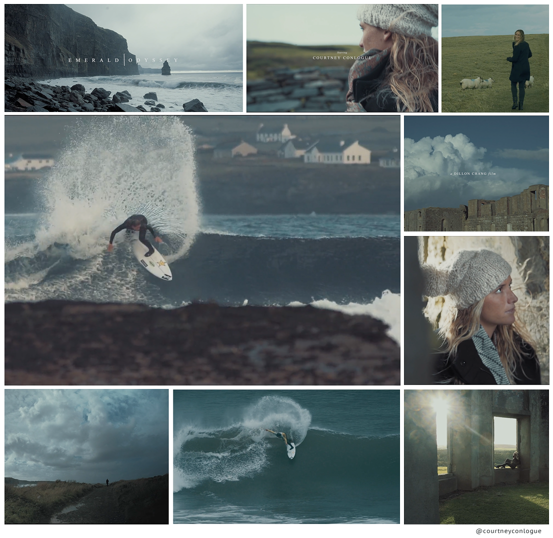 Courtney Conlogue stars in Emerald Odyssey, a short surf film by  Dillon Chang
