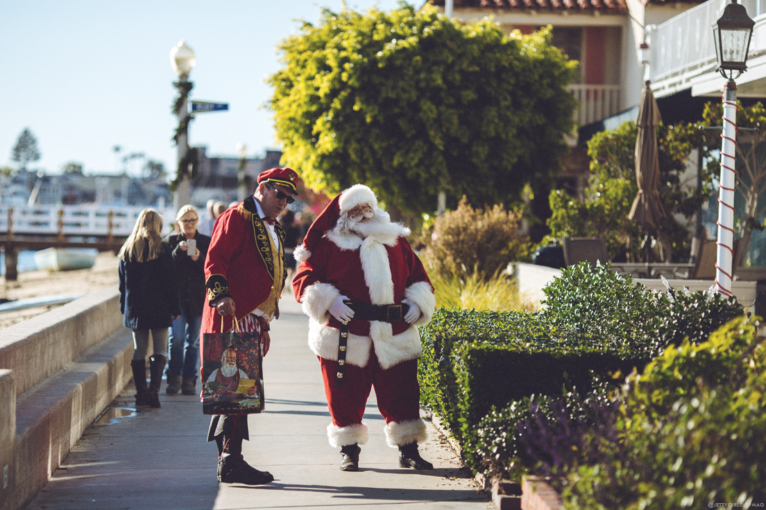 Santa Claus, Balboa Island.  Visit Newport Beach - Enriching in Every Sense. Photo by Chris Grant, JettyGirl Surf Magazine