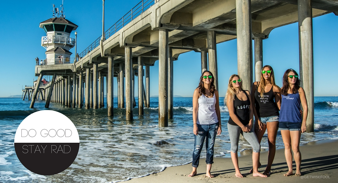 Do Good. Stay Rad. 3 Thirty Ambassadors at Huntington Pier. Photo by @getwisefool
