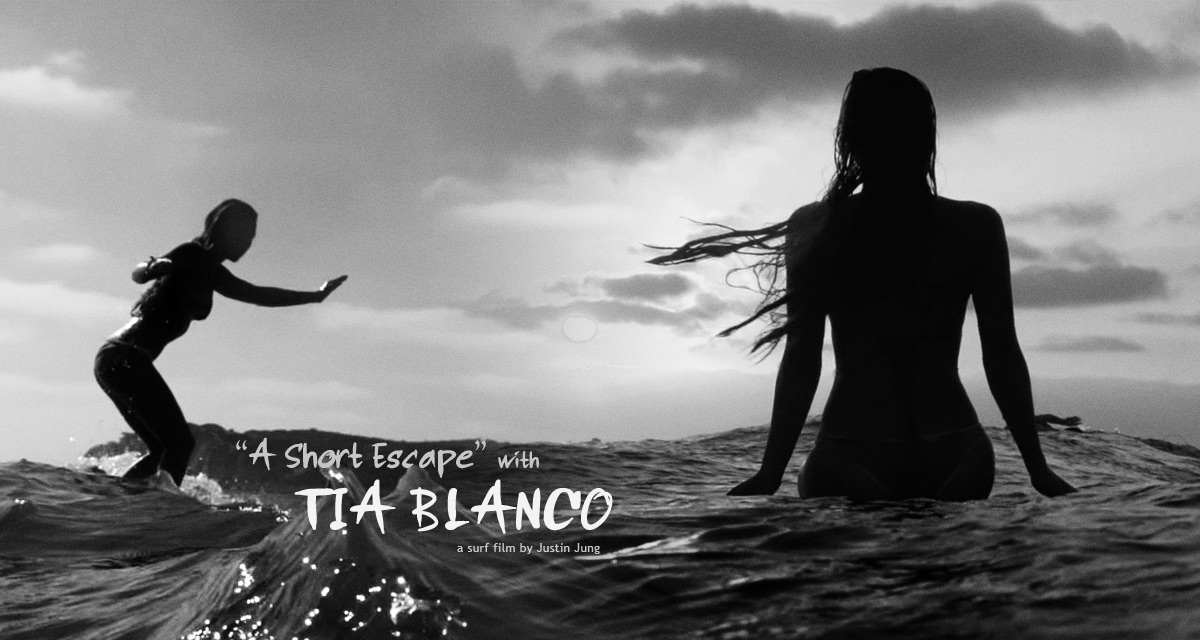 Tia Blanco stars in A Short Escape, a short surf film by Justin Jung featuring music by Catherine Clark