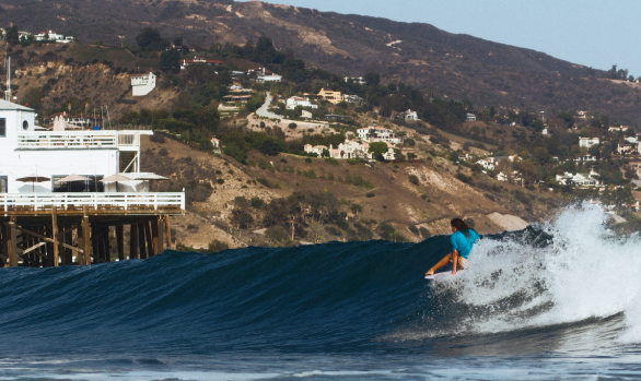 Makala Smith surfing perfect Malibu - Chris Grant Photo for JettyGirl Surf Magazine