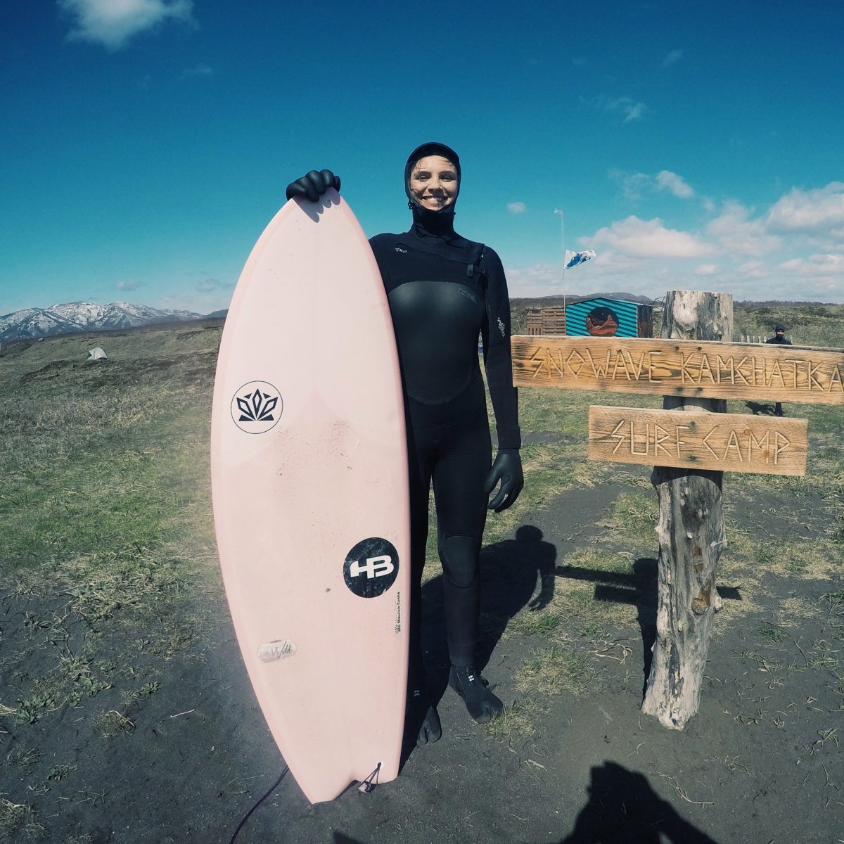 All smiles after our first surf session in Kamchatka, Russia - Photo: Stephan Figueiredo