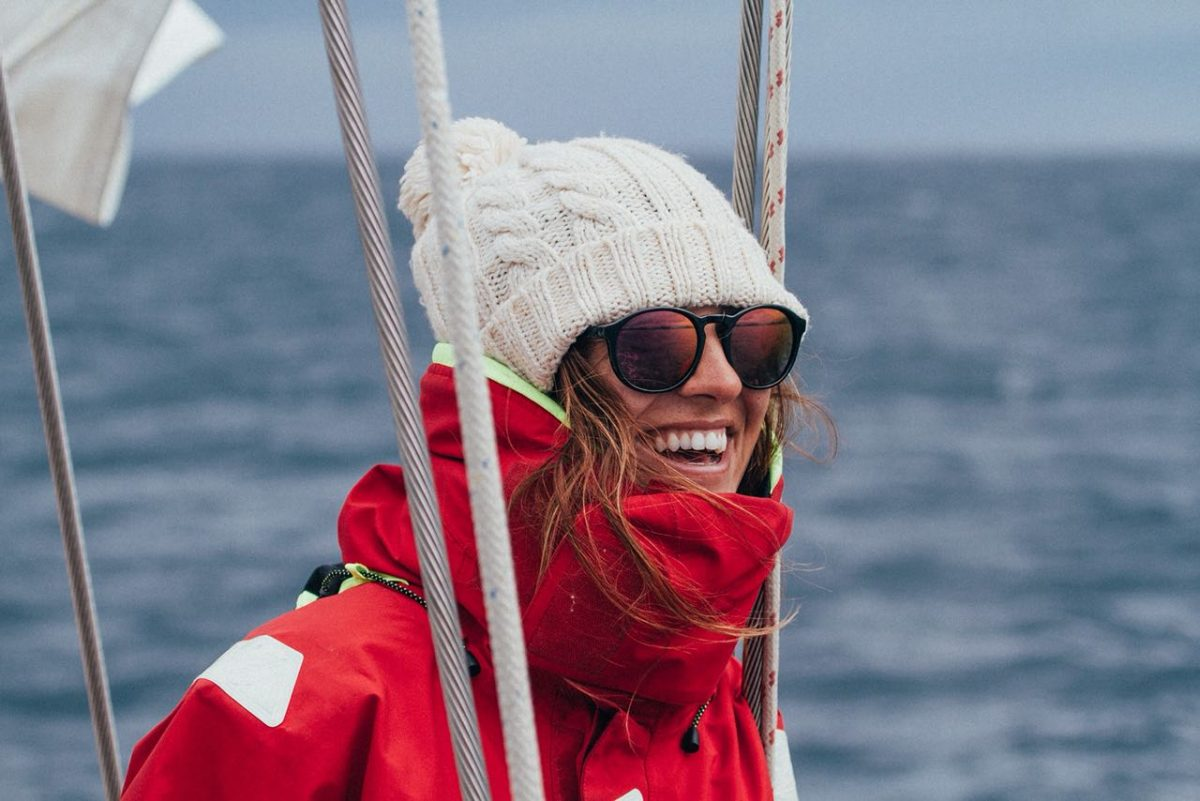 Happy day in the sailboat at the Bering Sea after the cross from Russia to Alaska - Photo: Mickey Bernardoni
