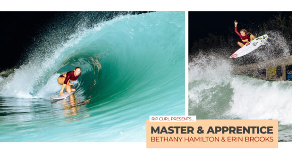 Rip Curl surf video Master and Apprentice starring Bethany Hamilton and Erin Brooks
