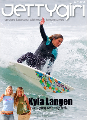 jettygirl cover of Kyla Langen cutting back in san diego county, surf photos by chris grant of boardfolio.com