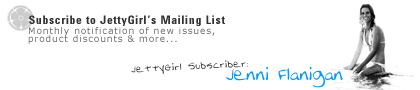 Subscribe to JettyGirl's mailing list